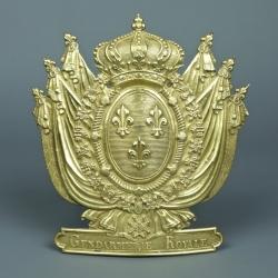 PLAQUE DE SHAKO D'OFFICIER DE LA GENDARMERIE ROYALE DE LA SEINE - MODELE 1817