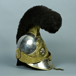 CASQUE D'OFFICIER DE LA GARDE NATIONALE A CHEVAL MODELE 1814 - 1830 RESTAURATION