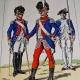 CASQUE À CHENILLE DE CHASSEURS À CHEVAL MODELE 1791 REVOLUTION (1791-1795).