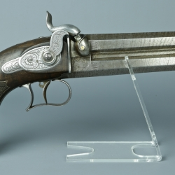 PISTOLET A PERCUSSION MODELE 1855 D'OFFICIER D'ETAT MAJOR VERSION CIVILE PAR LEPAGE