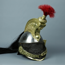 CASQUE DE TROUPE DE CUIRASSIER MODELE 1858 - SECOND EMPIRE