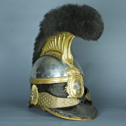 CASQUE A CIMIER D'OFFICIER DE LA GARDE NATIONALE 1815 / 1830
