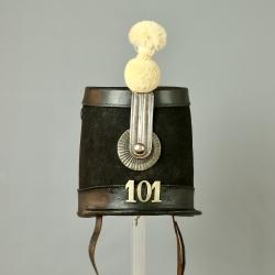 SHAKO D'OFFICIER MODELE 1845 DU CANTON DE FRIBOURG - SUISSE