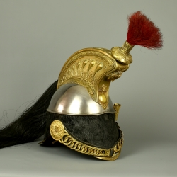 CASQUE DE TROUPE DE CUIRASSIER DE LA LIGNE MODELE 1858 - SECOND EMPIRE