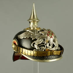 CASQUE D'OFFICIER BADOIS MODELE 1885 DU 1er BADISCHES LEIB GRENADIER N°109