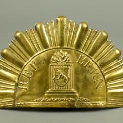 PLAQUE DE SHAKO DE LA REPUBLIQUE DE BERNE 1804- 1820 - CANTON DE BERNE - SUISSE