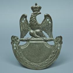 PLAQUE DE SHAKO REGLEMENTAIRE DE LA GARDE NATIONALE, MODÈLE 1812