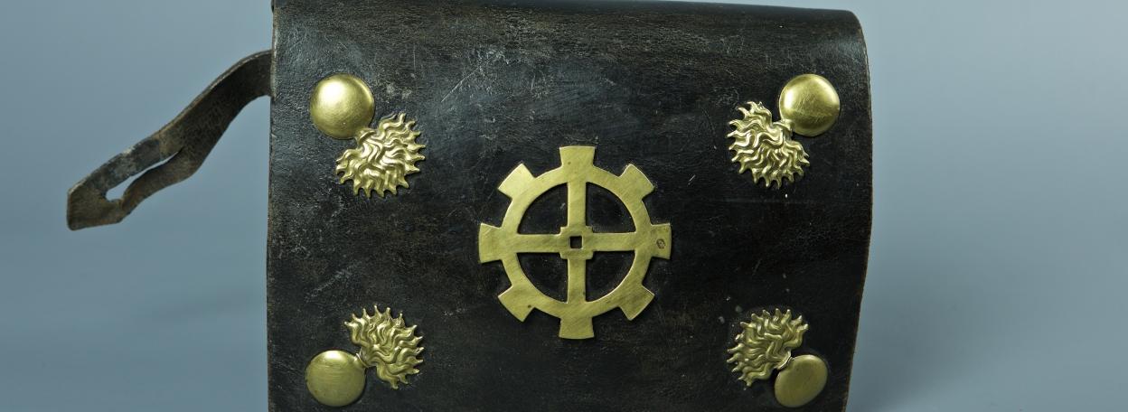 GIBERNE DE TROUPE DE LA GARDE NATIONALE DE LA VILLE MULHOUSE VERS 1830