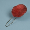 POMPON ROUGE DE TALPACK AU REGLEMENT DE 1860 POUR LES HUSSARDS - SECOND EMPIRE