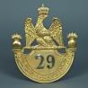 PLAQUE DE SHAKO D'OFFICIER DU 29 ème REGIMENT DE LIGNE MODELE 1812 - PREMIER EMPIRE