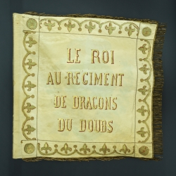 DRAPEAU DU REGIMENT DES DRAGONS DU DOUBS- 1815 - 18130 - RESTAURATION