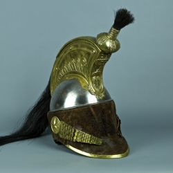 CASQUE DE TROUPE DU 1ER REGIMENT DE CUIRASSIER - PREMIER EMPIRE