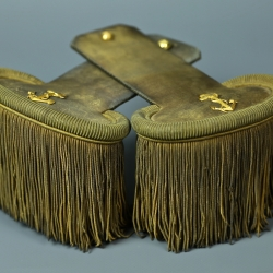 EPAULETTES D'OFFICIER DE MARINE SECOND EMPIRE